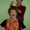 GAYKEITH: Production Assistant Peter Bedard 'hat wrangles' SCOTT (Scott Edgecombe). Photo Credit Melissa Bouwman